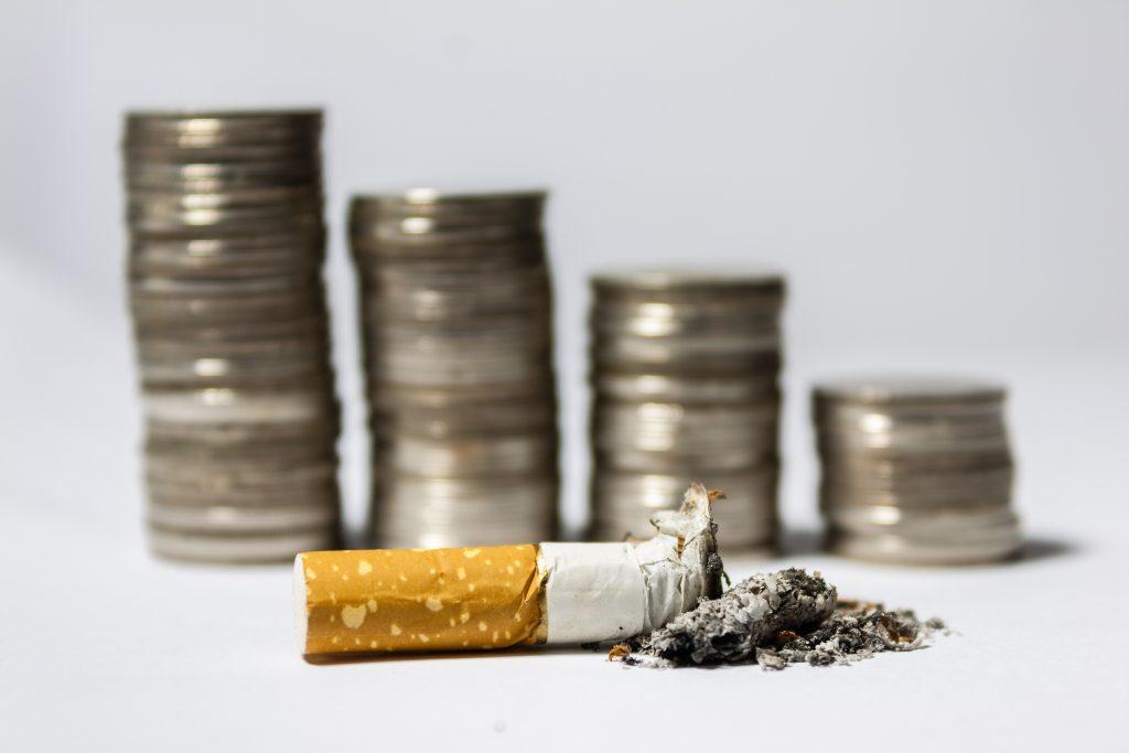 Geld besparen - stoppen met roken test
